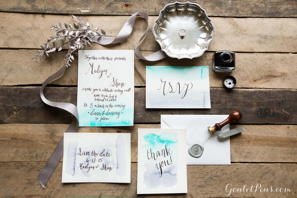 goulet pens blog: how to diy wedding invitations,
